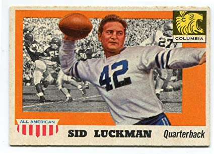 Sid Luckman 1955 Topps All-American Card  85 at Amazon s Sports ... ac2bcde49