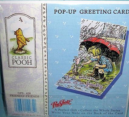 Amazon classic winnie the pooh pop up friendly friendship card classic winnie the pooh pop up friendly friendship card popshots m4hsunfo