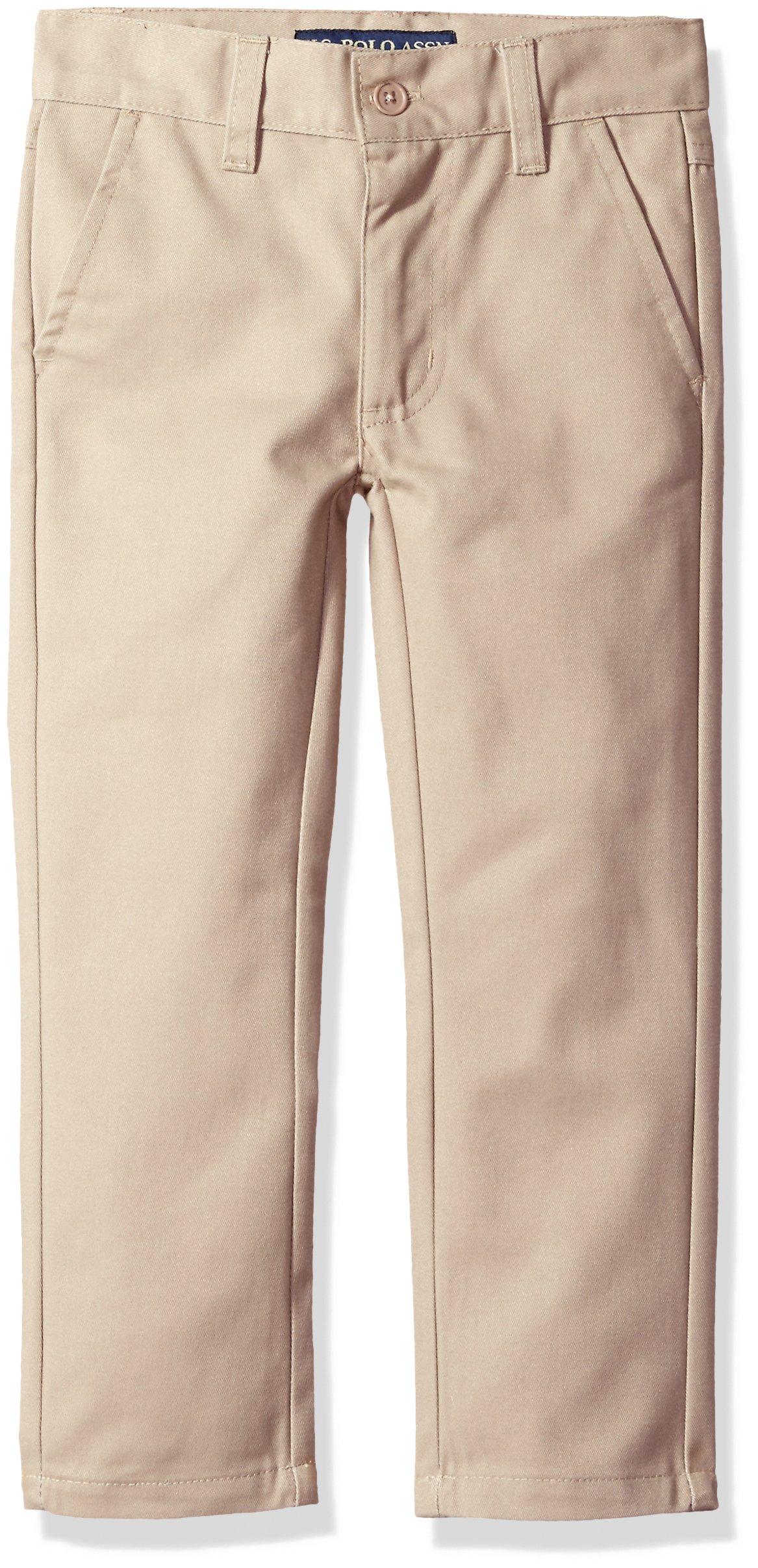 U.S. Polo Assn. Boys' Twill Pant (More Styles Available), Soft Khaki, 10