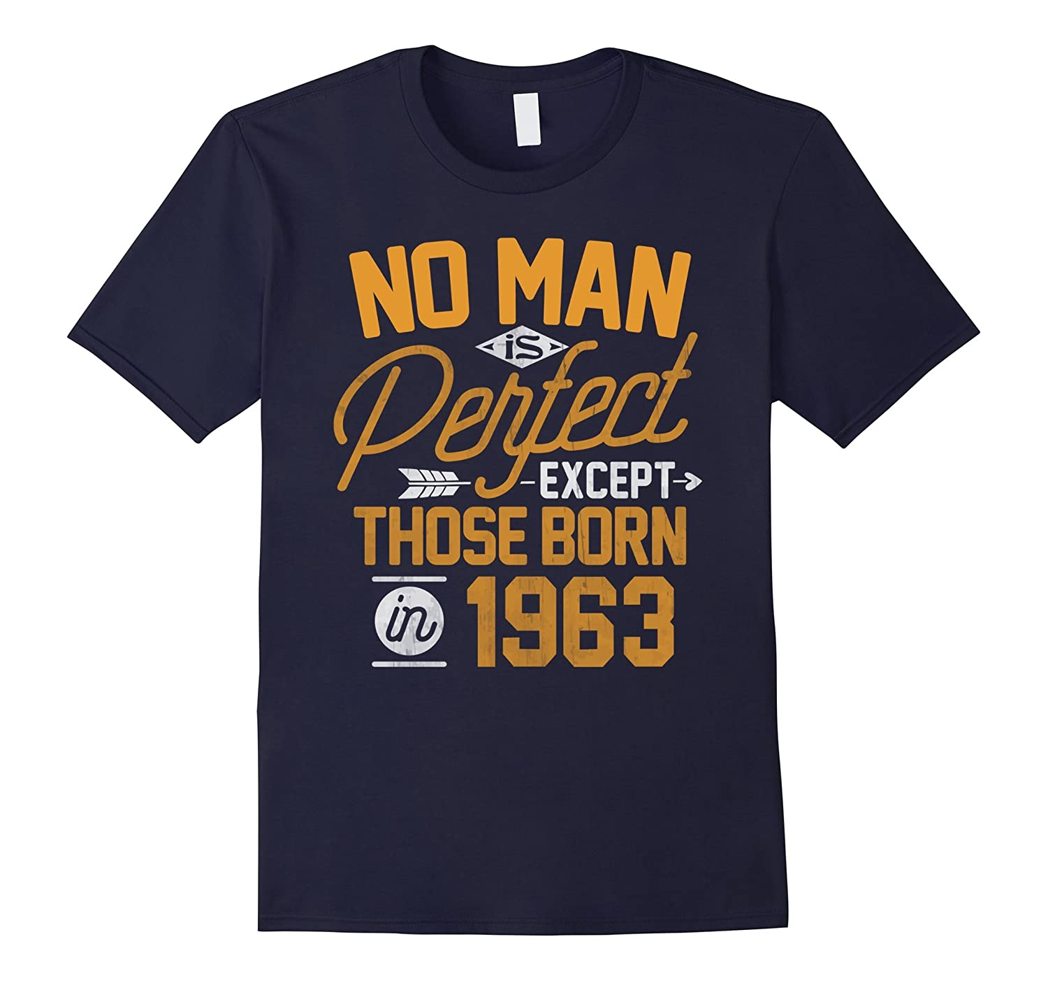 54th Birthday Shirt for 54 Years Old No Man Is Perfect 1963-PL