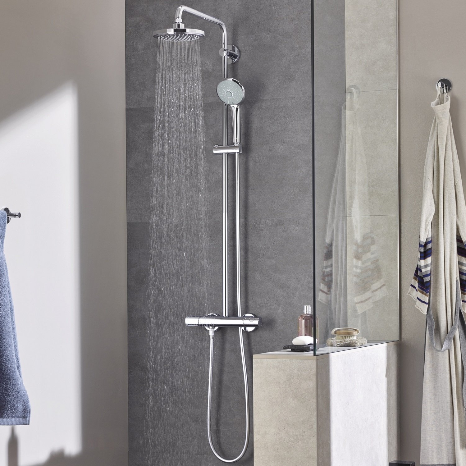 soul grohe aq rail power spa shower cosmopolitan handset mn and with bathrooms