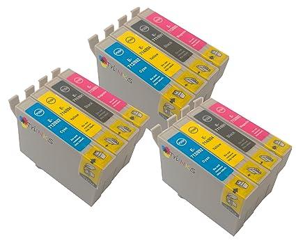 T 715 x 3 MULTIPACK - 12 x EPSON cartuchos de tinta compatibles ...