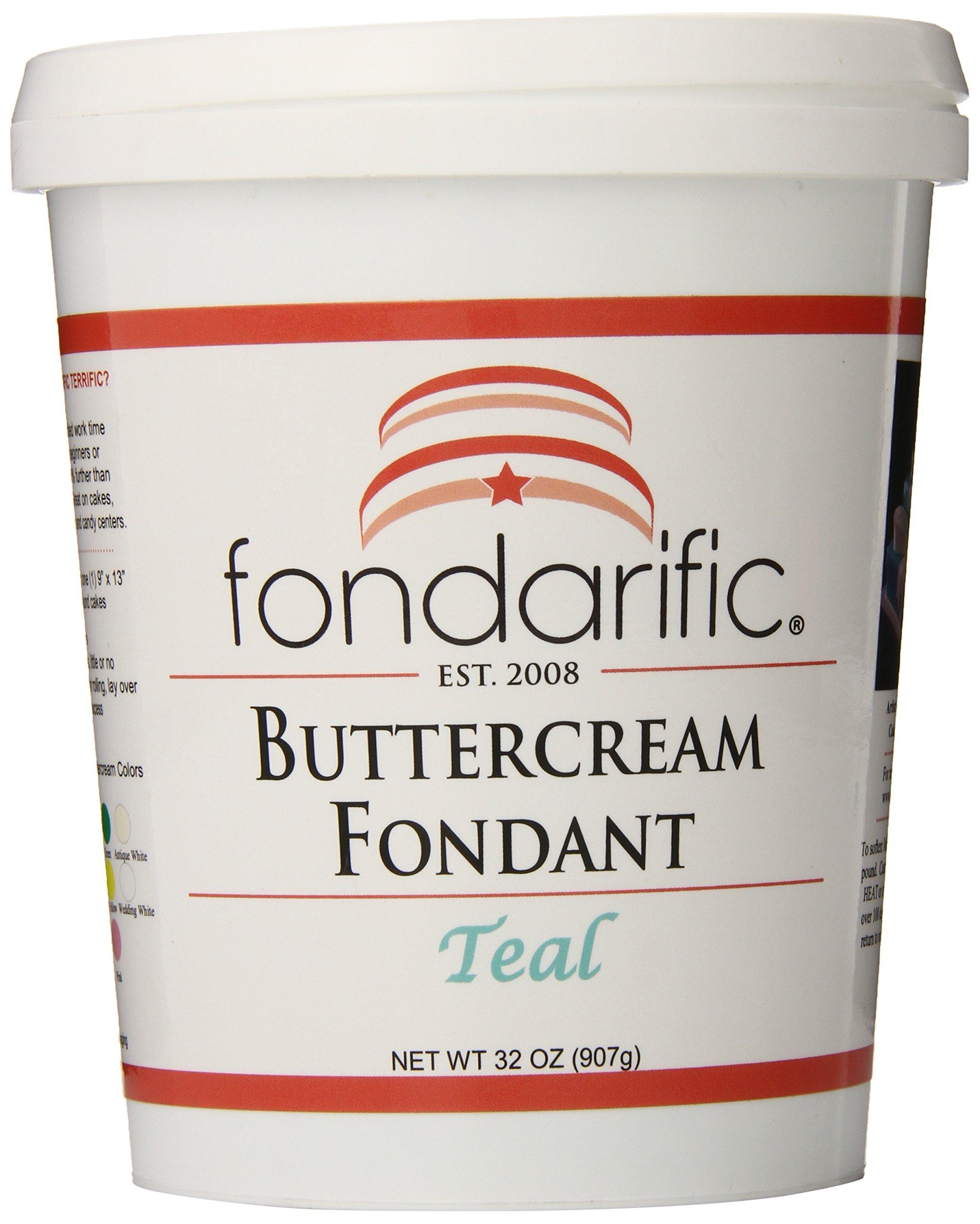 Fondarific Buttercream Teal Fondant, 2-Pounds by Fondarific