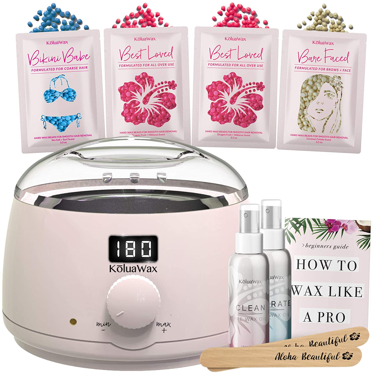 Amazon Com Waxing Kit Digital Wax Warmer Hair Removal With Hard