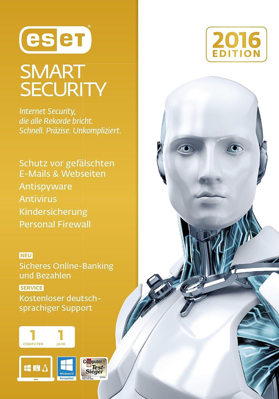 Eset Smart Security 2016 1usuario(s) 1año(s) Alemán - Seguridad y antivirus (1, 1 año(s), Soporte físico): Amazon.es: Software