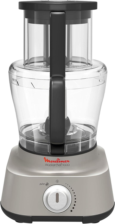 Moulinex Masterchef 9000 1100W 4L Plata - Robot de cocina (4 L, Plata, Giratorio, 1,5 L, 3 discos, 1100 W): Amazon.es: Hogar