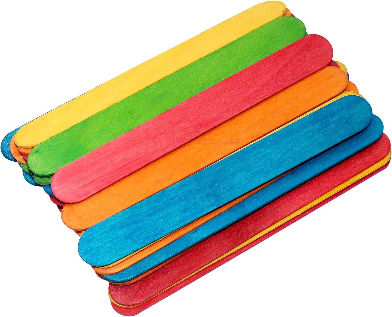 200 palos de madera con colores naturales para manualidades ...