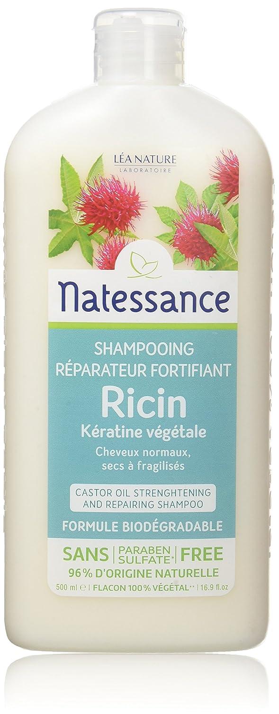 Natessance champú para el pelo En la fábrica de aceite de ricino y queratina 500 ml: Amazon.es: Salud y cuidado personal