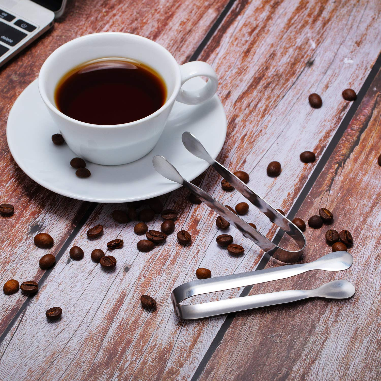 confezione da 16 Mini pinze WENTS pinze per zucchero e ghiaccio pinze da cucina per t/è in acciaio inox cucina bar caff/è feste piccole pinze da portata per antipasti