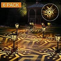 Lámparas Solares para Jardín Golwof 6 Piezas Luz Solar Exterior Jardin Luces Solares Jardin Exterior Farolillos Solares…