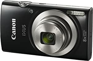 Canon IXUS 185 /Elph 180 Black Digital Compact Camera (International Model No Warranty)