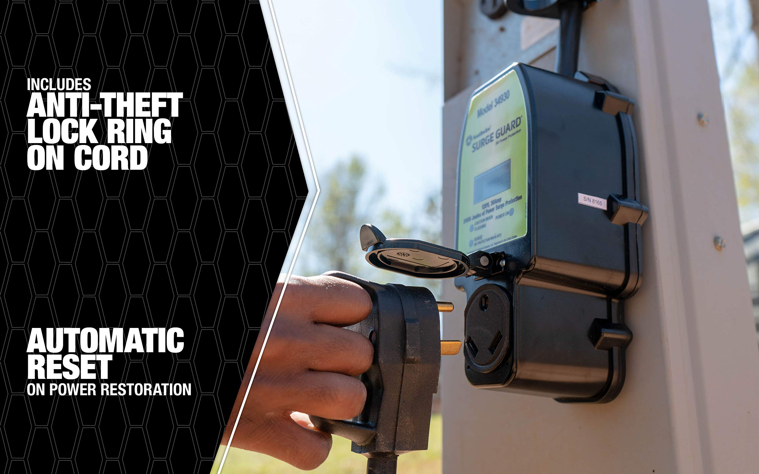 Southwire Black 34930 Surge Guard 30A-Full Protection Portable with LCD Display by Southwire (Image #5)