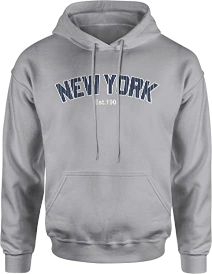Size Logo NEW Champion NY Men/'s Vintage Fleece Sweatshirt Hoodie Pick Color