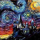 Amazon Price History for:Harry Potter Inspired Art - PRINT - Starry Night Hogwarts Castle - van Gogh Never Saw Hogwarts - Art by Aja 8x8, 10x10, 12x12, 20x20, 24x24 inch sizes