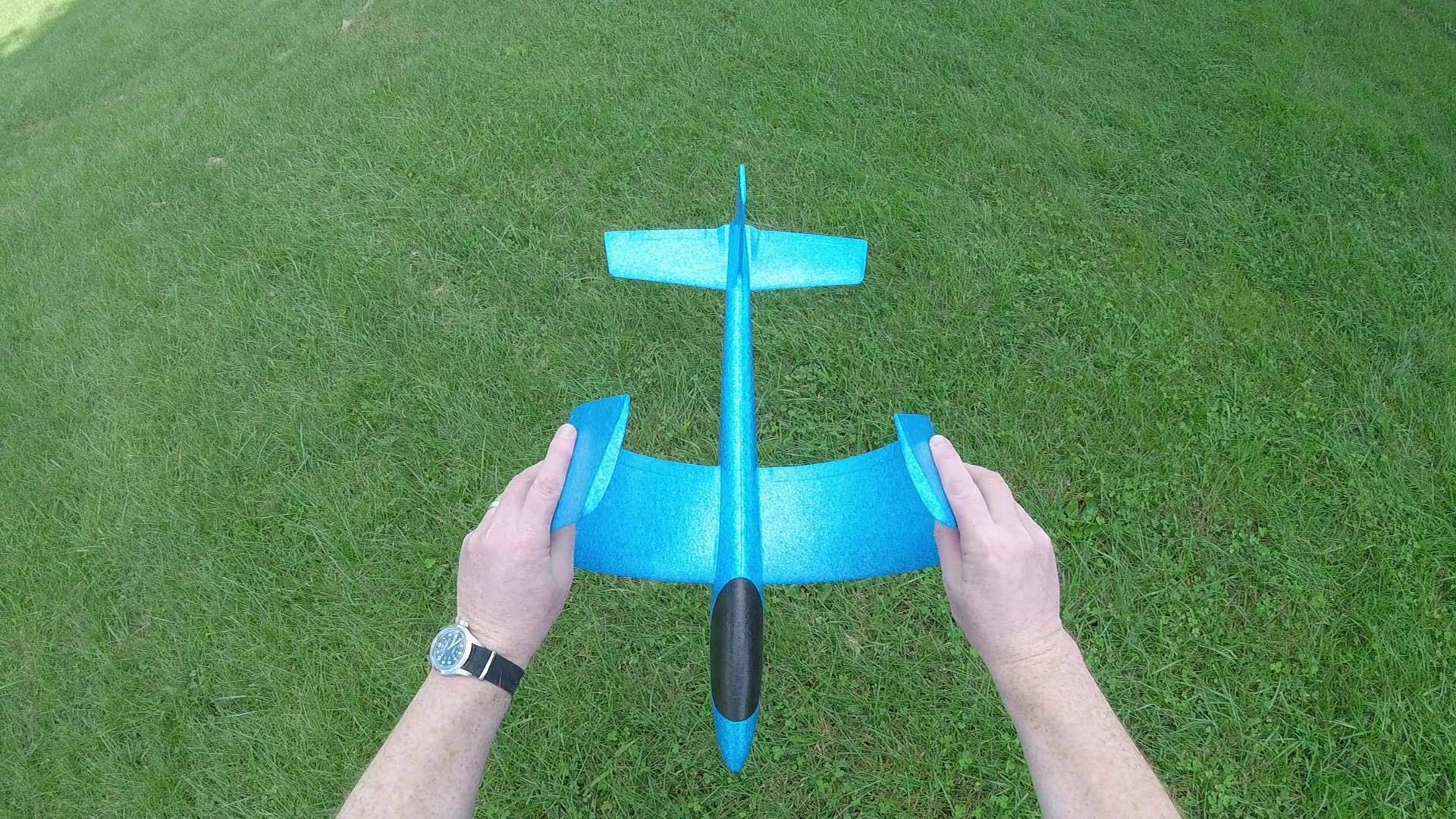 G-I-A-N-T (Almost 3 FEET), Great Flying, Almost Unbreakable, Large Foam Glider Plane. Virgin EPP Foam. Ideal for RC Conversion! Similar to LIDL Gliders Sold Out in Europe! by Daddy's Flyers (Image #9)
