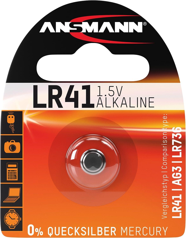 Ansmann 5015332 LR41 - Pilas de botón, batería alcalina - 1,5V
