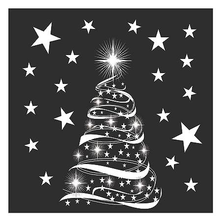 star tree with stars window cling stickers seasonal christmas window decorations - Christmas Window Decorations Amazon