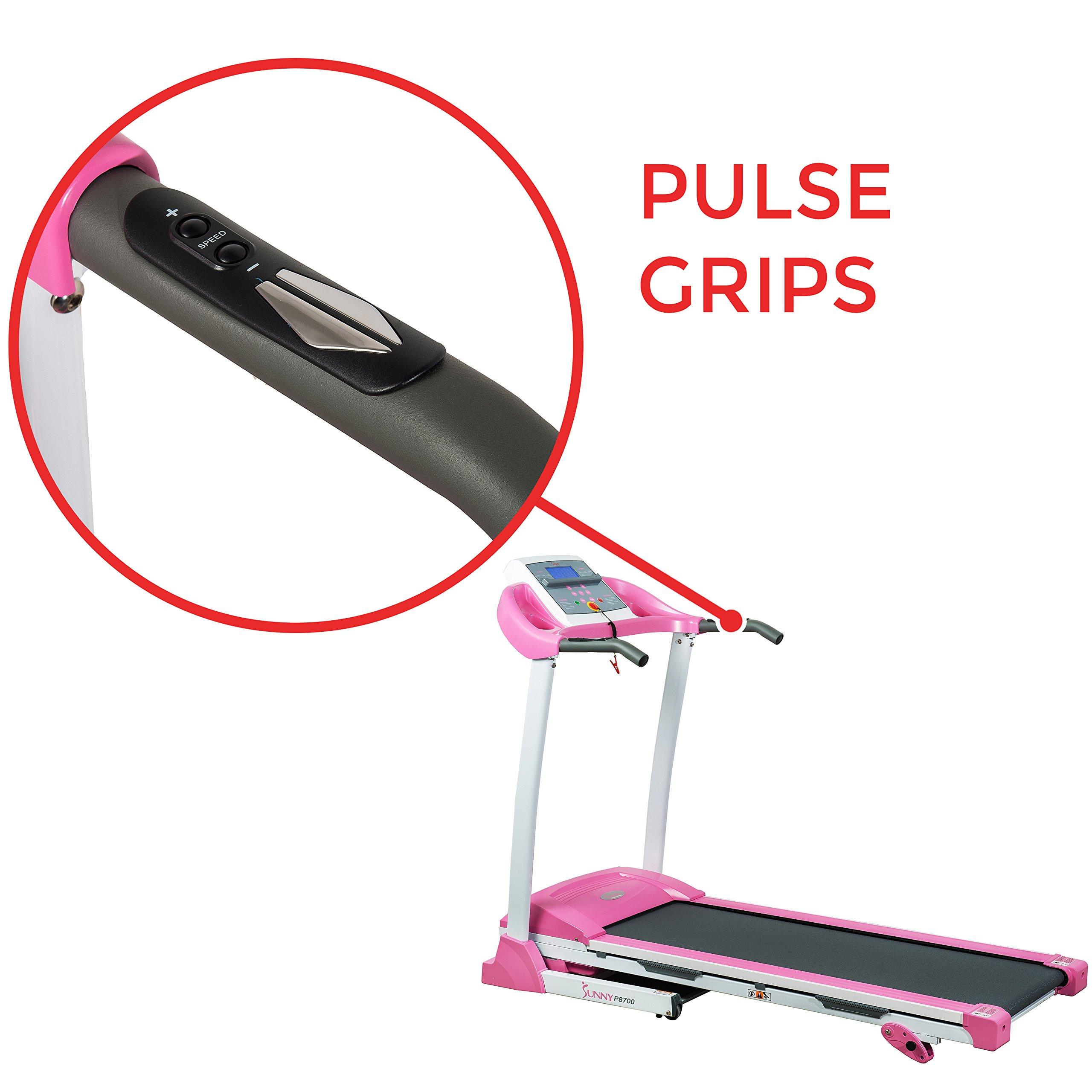 Sunny Health & Fitness P8700 Pink Treadmill by Sunny Health & Fitness (Image #6)
