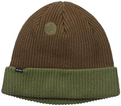 6aa3dd13394 Volcom Mens 2-Tone Sweep Beanie Skull Cap - Brown -  Amazon.co.uk  Clothing