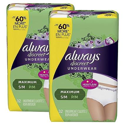 65f2808c1d0b8 Amazon.com  Always Discreet Incontinence   Postpartum Underwear for Women