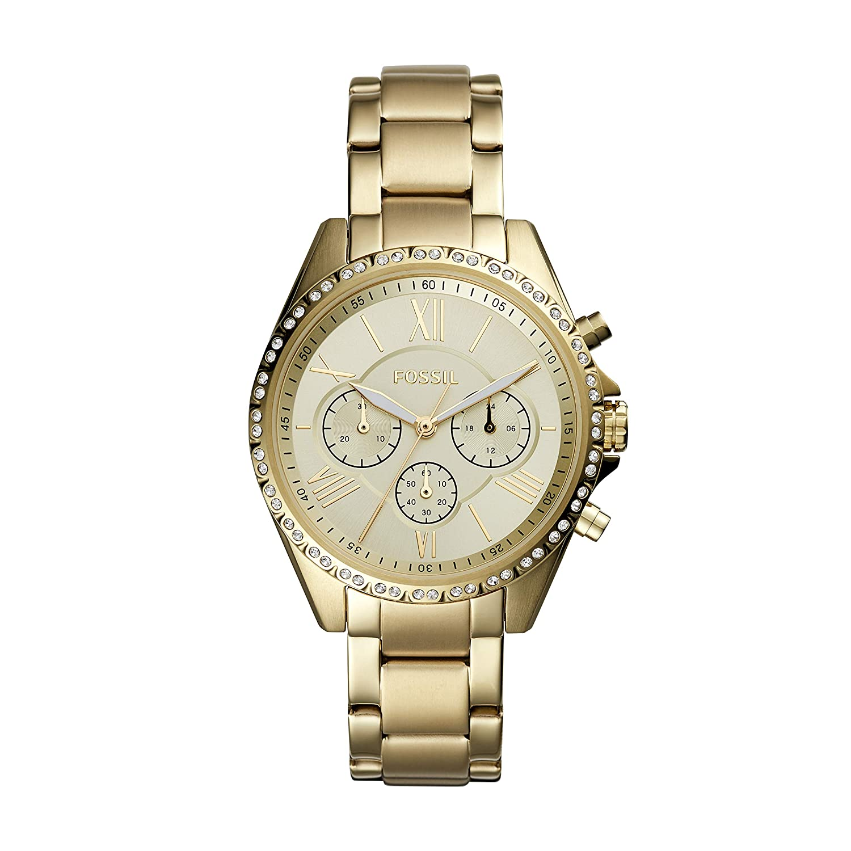 7af6cb6d8725 Amazon.com  Fossil Women s Modern Courier Stainless Steel Chronograph Dress  Quartz Watch  Watches