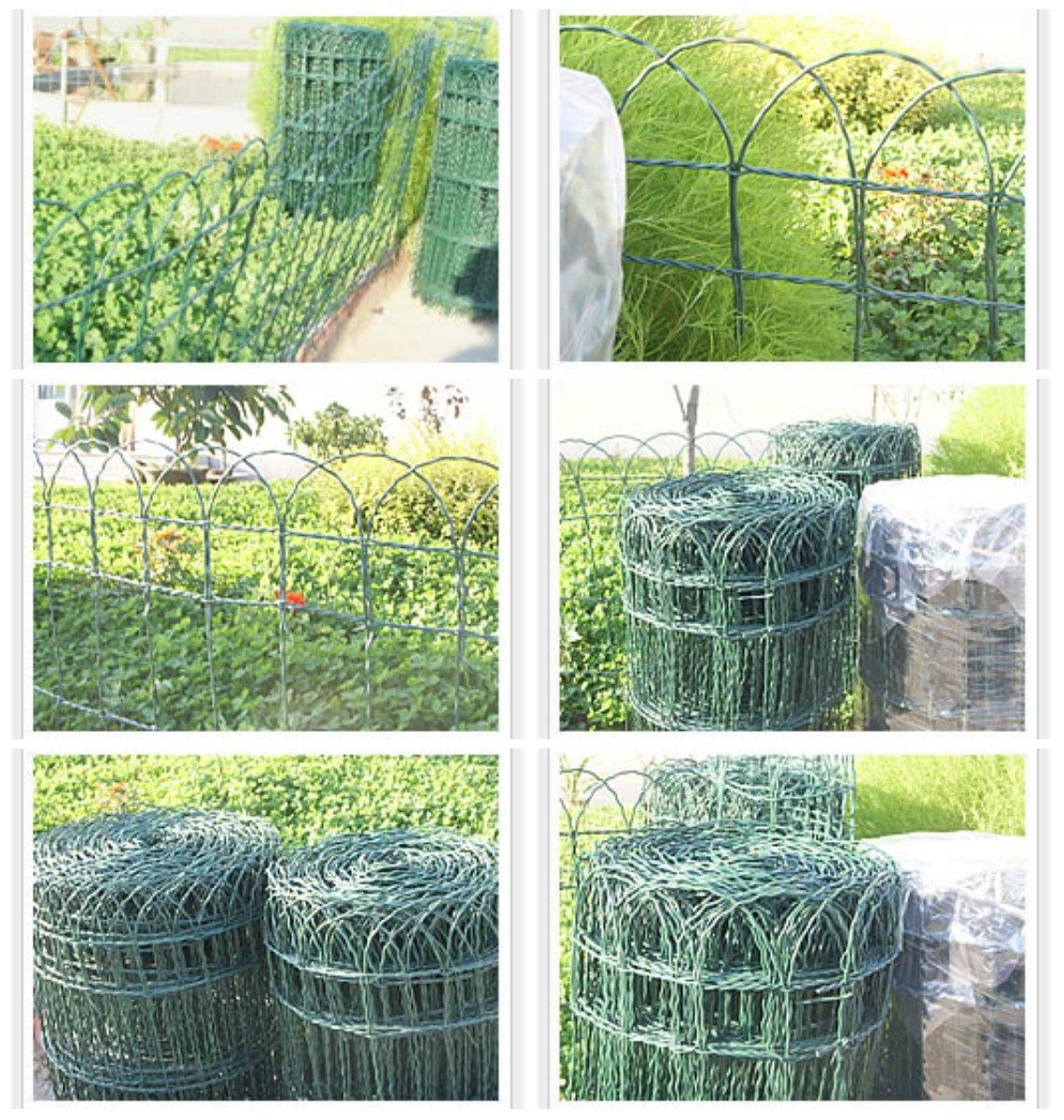 Garten Mile® 0,25m x 10m Garten Zaun Bordüre grün PVC Drahtgitter ...