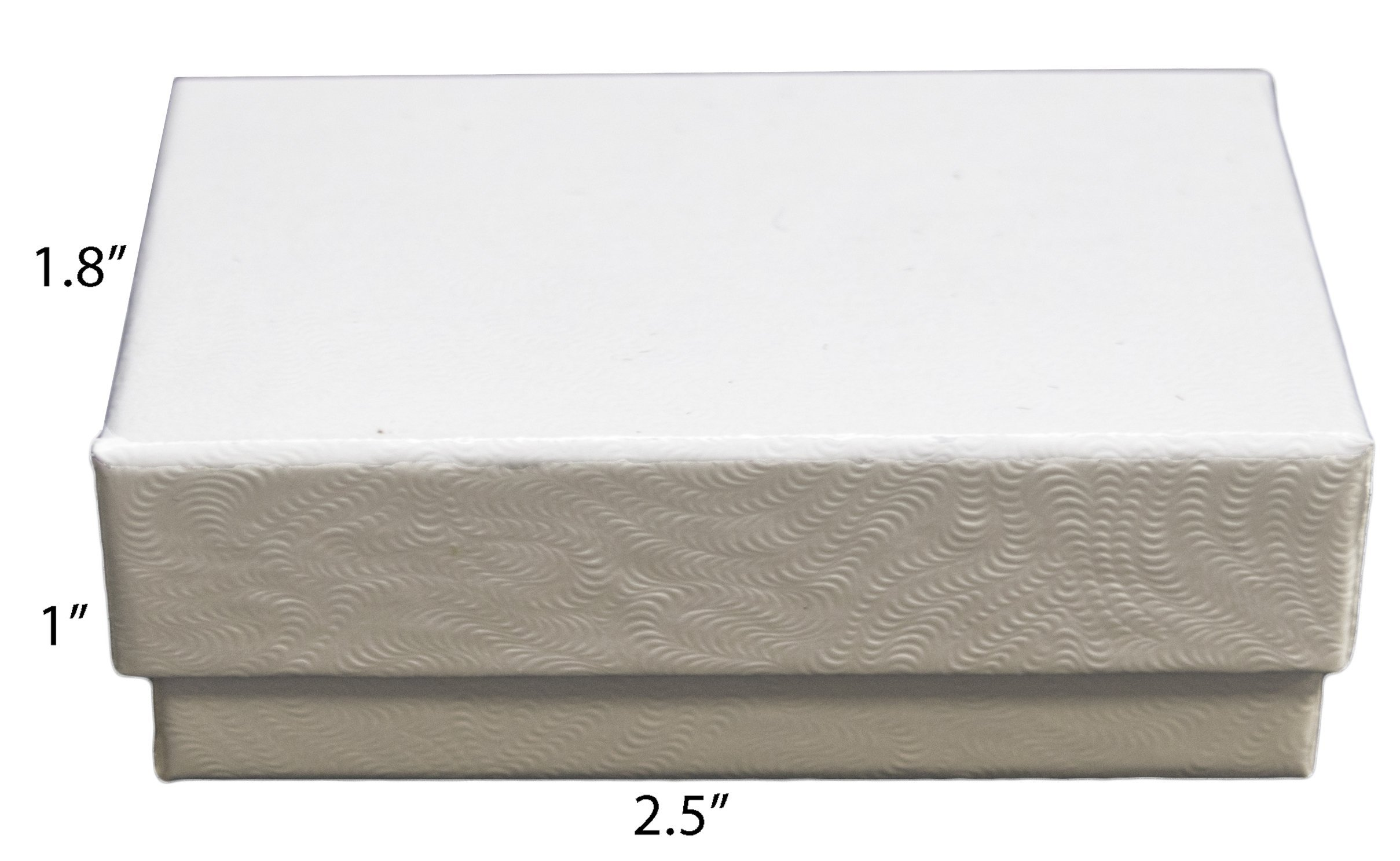 Novel Box MADE IN USA Jewelry Gift Box in White Swirl With Removable Cotton Pad 2.5X1.8X1'' (Pack of 25) + NB Cleaning Cloth by Novel Box (Image #3)