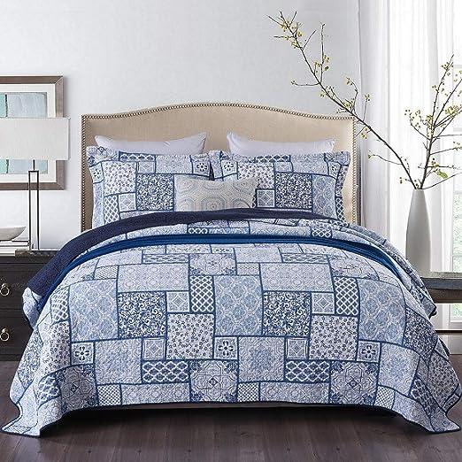 Bettüberwurf Für Doppelbett.Qucover Tagesdecke Aus Baumwolle Bettuberwurf Fur Doppelbett