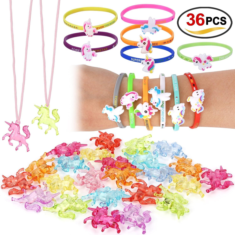Konsait Unicornio Colgante Collares para niñas y Unicornio Pulsera de Silicona Ideal para Infantiles Juguetes Regalos Artículos de Fiesta de ...