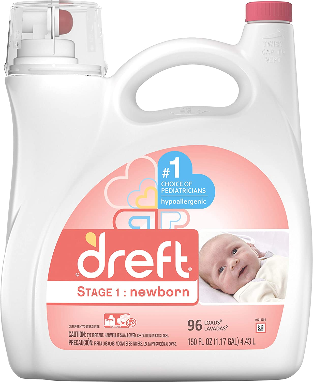 Dreft Stage 1: Newborn HEC Liquid Detergent