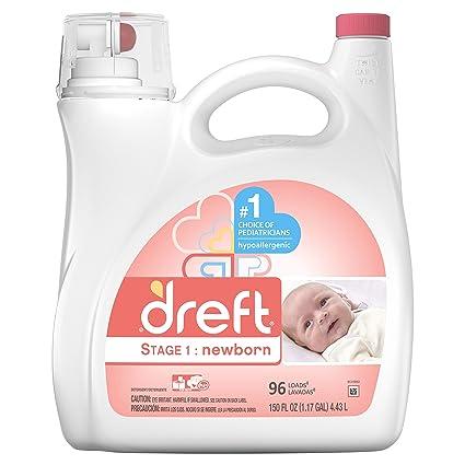 Dreft etapa 1: recién nacido detergente líquido (He) 10037000803772, 150 Oz,