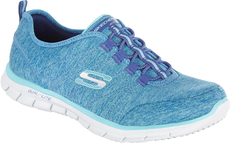 Skechers Sport Women's Glider Electricity Sneaker B00ZI8OVLI 8 B(M) US|Blue/Aqua