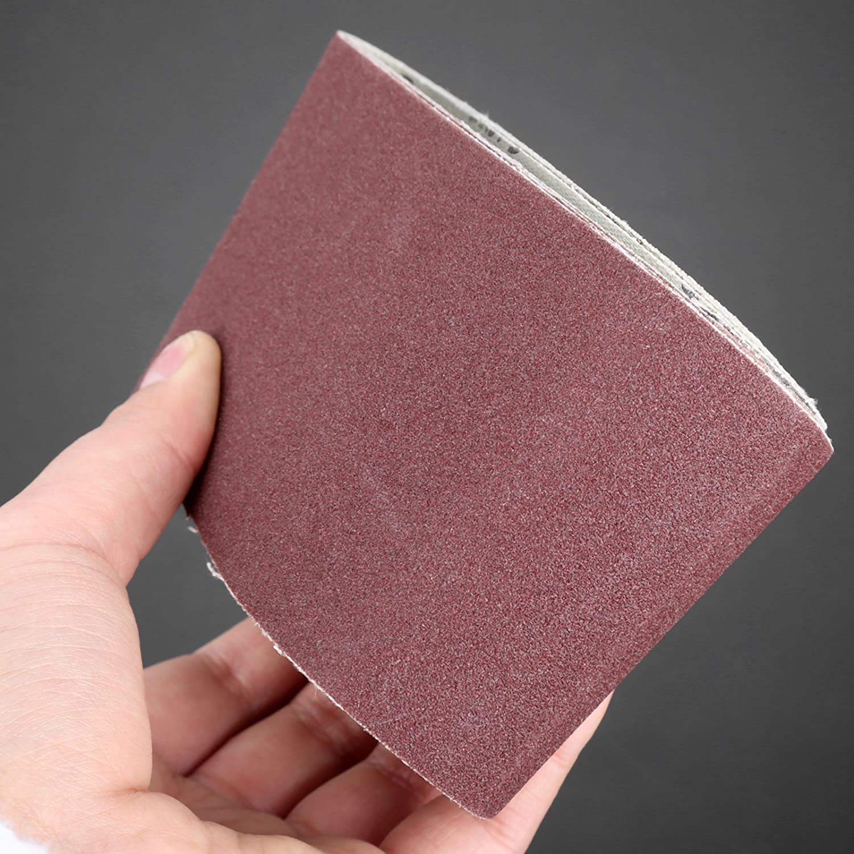 5Pcs Red 600# Grit Aluminium Oxide 533x75mm Abrasion Resistant Abrasive Sanding Belt