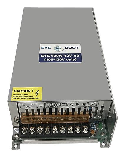 Amazon.com: Eyeboot 12V 50A DC Universal Regulated Switching Power ...