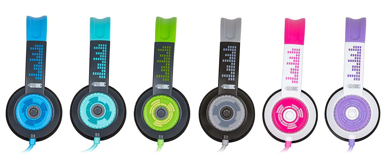7423f7aa1ed Amazon.com: FSL Protec Kids Headphones with Adjustable Volume Limiting  (Blue): Home Audio & Theater