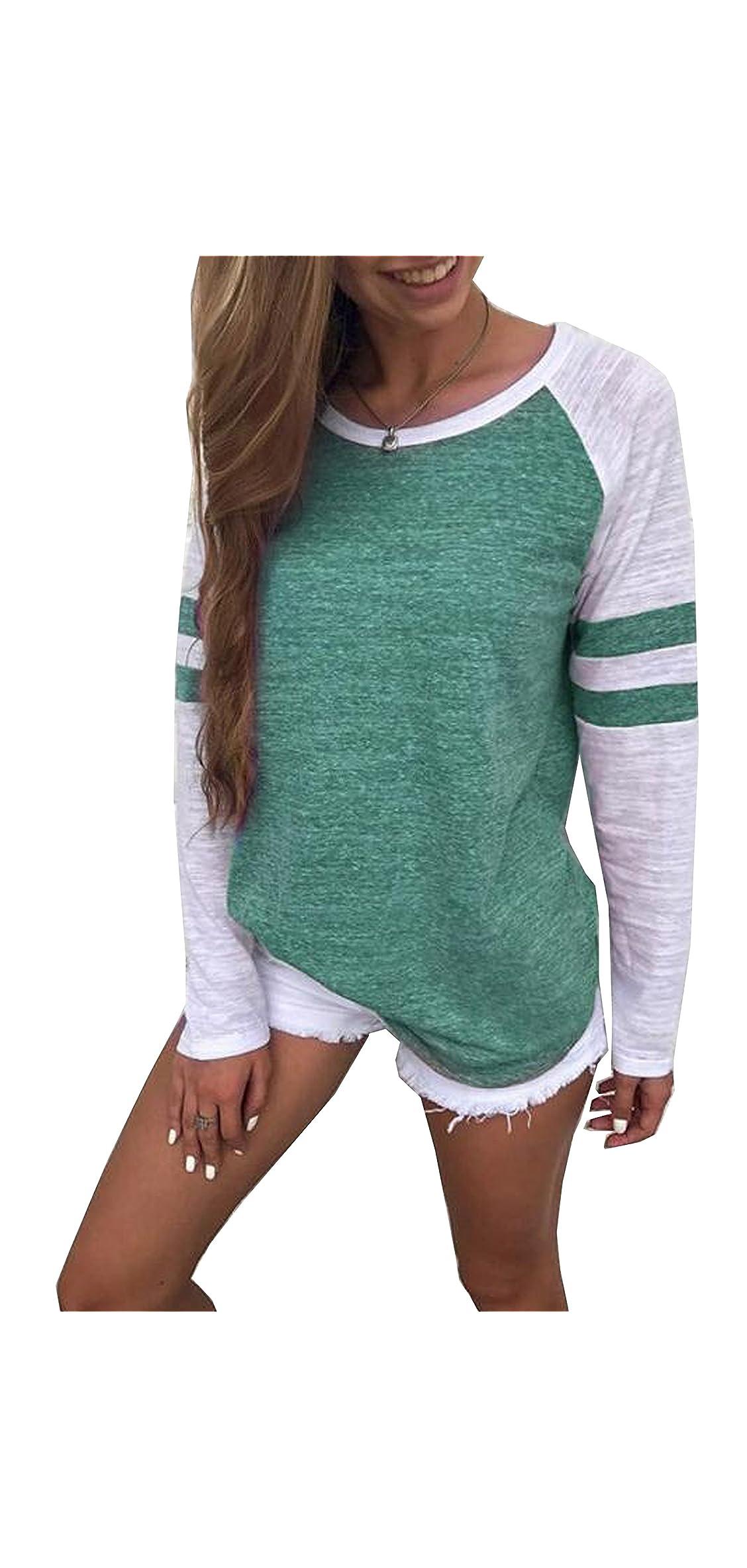 Women's Color Block Long/short Sleeve T Shirt Casual