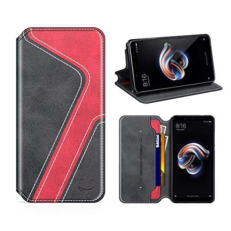 MOBESV Smiley Funda Cartera Xiaomi Redmi Note 5, Funda Cuero Movil Xiaomi Redmi Note 5 Carcasa Case con Billetera/Soporte para Xiaomi Redmi Note 5 - ...
