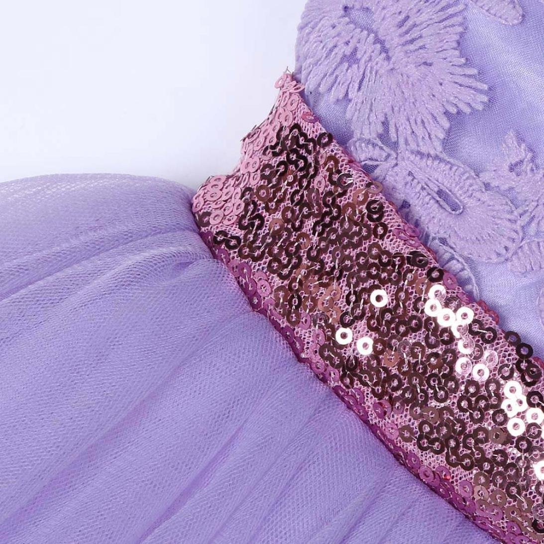 Memela Baby Flower Girls Sequins Bowknot Party Dress Tutu Dress