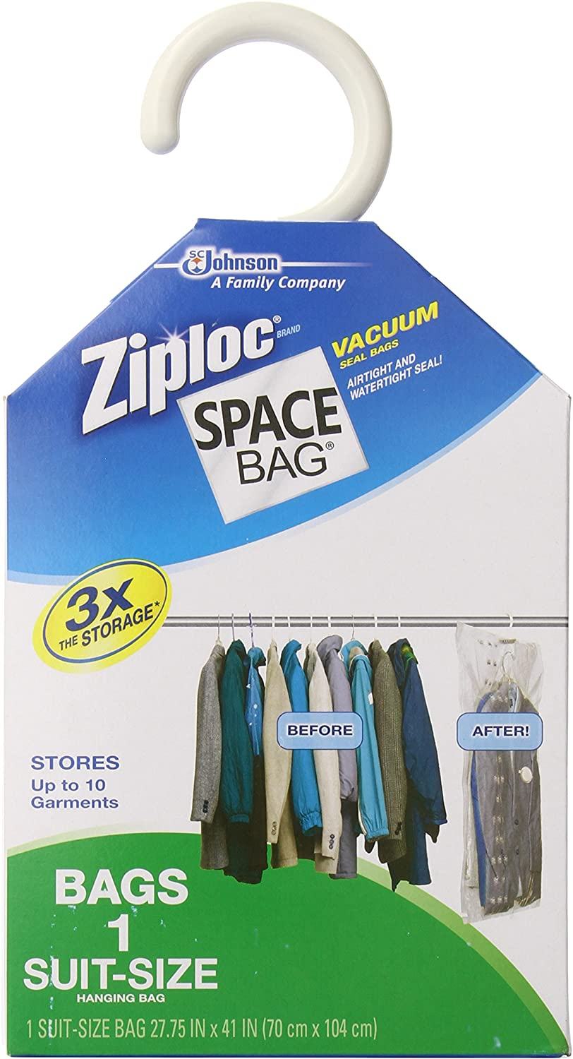 Space Bag #WBR-5700 Vacuum Seal Clear Hanging Storage Bag