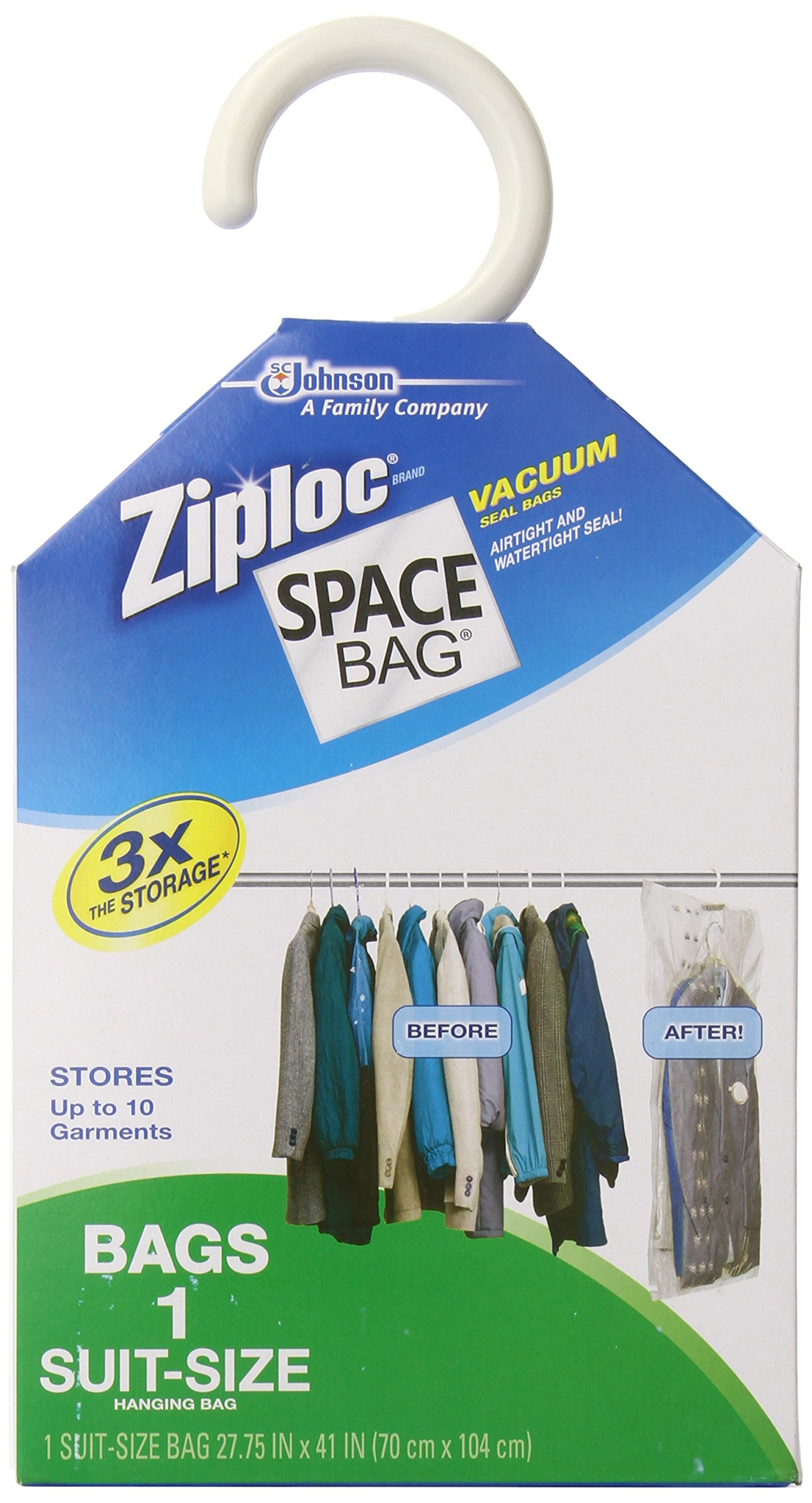 363dc7b920ac Amazon.com  Space Bag  WBR-5700 Vacuum Seal Clear Hanging Storage Bag   Health   Personal Care