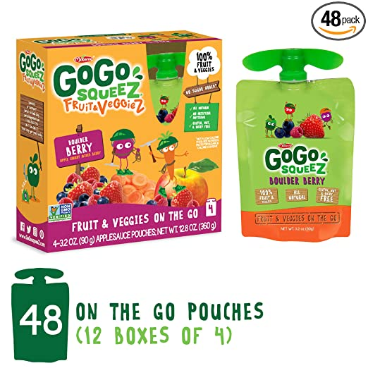 GoGo squeeZ Applesauce on the Go, paquete variado (Apple ...