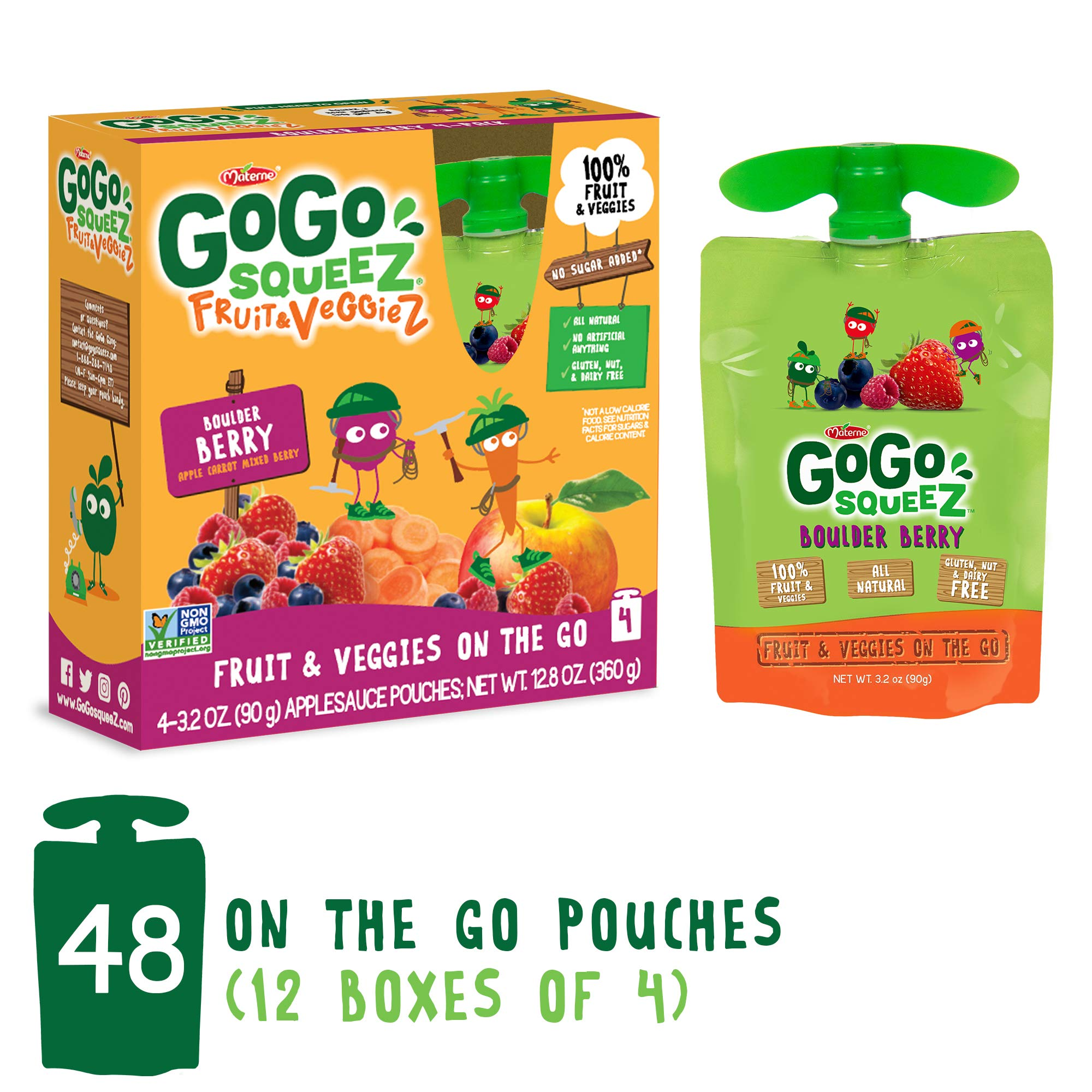 GoGo squeeZ Fruit & VeggieZ on the Go, Apple Pear Carrot