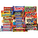 Chocolate Bars Variety Pack, King Size Mix, All Your Favorite Chocolate Bars Including M&M, Snickers, Skittles, Twix and More, 20 Extra Large Bars