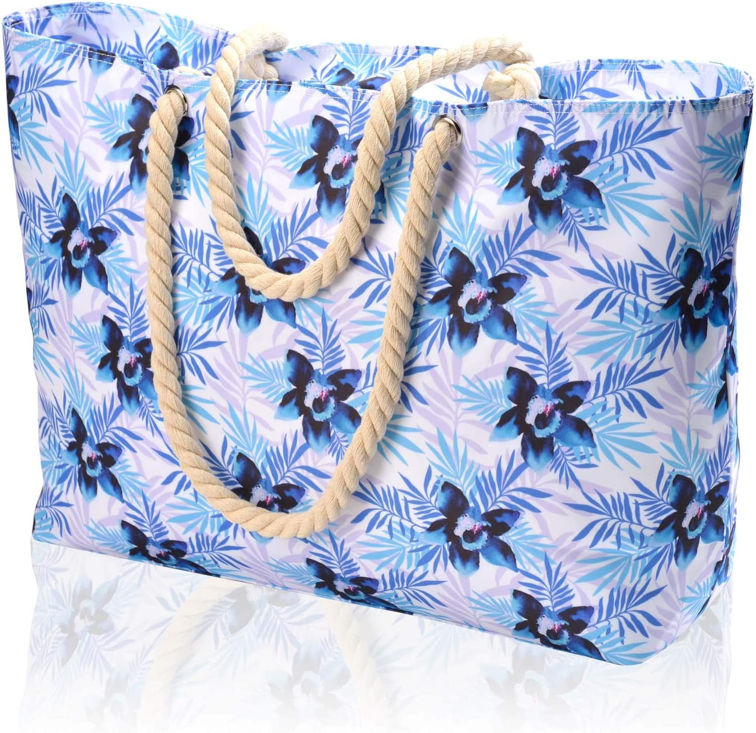 Large Beach San Francisco Mall Bag and Pool Waterproof Zipper Beauty products with 100%