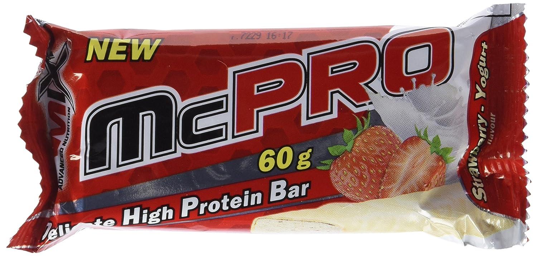 Amix McPro Protein Bar 20 Barritas x 60 gr Fresa-yogurt: Amazon.es: Salud y cuidado personal