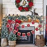 Merry Christmas Banners, Burlap Christmas Decoration, Rustic Farmhouse Christmas Decor, Christmas Sign Hangings for…
