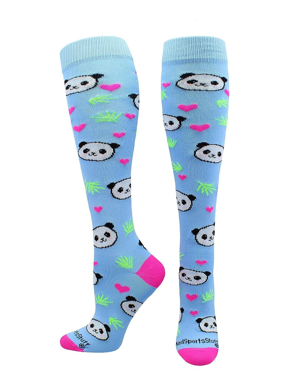 MadSportsStuff Happy Panda Bear Socks Over The Calf Length