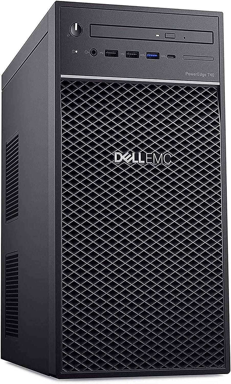 2020 Newest Dell PowerEdge T40 Tower Server Premium Desktop Tower Intel Quad-Core Xeon E-2224G 8GB DDR4 1TB HDD 1TB HDD DVD USB-C Intel UHD Graphics P630 No Operating System