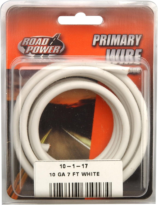 Coleman Cable 10-1-17 55671933 7' 10GA WHT AUTO WIRE, 10-Gauge, White