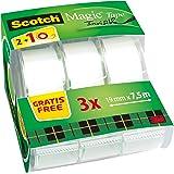 Scotch Ruban Scotch Magic 7,5 m x 19 mm - 2 Rouleaux + 1 Gratuit